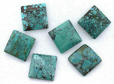 One 22.5mm 22mm Square Natural Turquoise Cabochon Cab Gemstone Gem Stone EBS7502