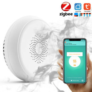 Tuya Smart Home Zigbee Smoke Detector Sensor Smart Fire Alarm Sensor Home E2M2