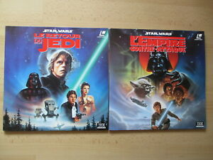 LASERDISC STAR WARS George Lucas Retour du Jedi + Empire lot 2x Laser disc !!