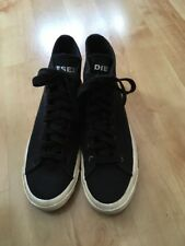 diesel industry Exposure I Hi Top Men Black Canvas Trainers Eur 42