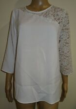 Dorothy Perkins Women Ivory Lace Insert Top Ivory UK Size 12 Vr55 05