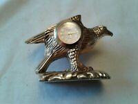 """Vintage Brass Eagle Desk Clock 2.5"""" × 2.5"""""""