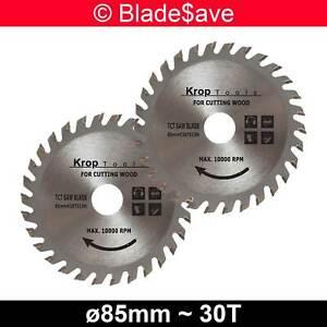 Einhell Circular Saw Blade Fine Cut TCT 85mm x 15mm x 30T by KROP (2 Pack)