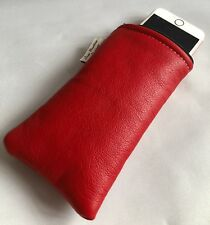 Red Leather iPhone 6s zipped Case,iPhone Case,Leather Phone Case,iPhone 5 case.