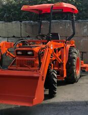 Kubota B8200 Tractor, Loader, Mower, and Backhoe Fully Restored Mint Condition.
