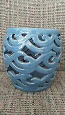 Partylite Blue Ceramic Candle Holder