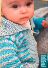 KNITTING PATTERN Baby Striped Cardigan Long Sleeved Louisa Harding PATTERN