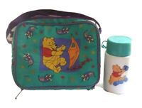 Vintage Winnie the Pooh Disney Thermos Soft Sided Lunch Box With Thermos