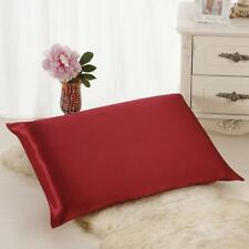 Silk Sofa Bed Rectangle Cushion Cover Throw Pillow Case Pillowcase Simple Solid
