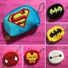 Superhero Coin Purse (Batman Superman Spider Man Iron Man Baymax)
