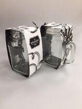 KRAKEN BLACK SPICED RUM MASON JAR GLASSES - BRAND NEW - PUB BAR PARTY. MUGS. X 2