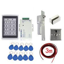 Metal RFID Entry Door Lock Access Control System Electric Drop Bolt Lock+10 Keys