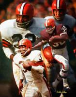 Jim Brown Cleveland Browns Running Back NFL Football Art 2 8x10-48x36 CHOICES