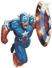 Captain america 14 count cross stitch kit