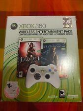 Wireless Entertainment Pack Halo 3+ Fable II, original XBox 360 pad nero nuovi!!