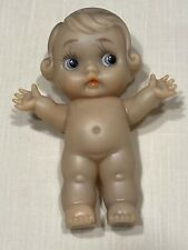 """Vtg Rienta Rubber Kewpie Squeak Doll 6"""" Made In Japan"""
