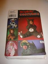 Vintage 7317 Simplicity Costume cut sewing pattern babies and toddlers 1/2 - 4
