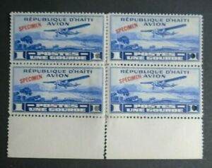 EARLY AVIATION 1 GOURDE 4 STAMPS VF MLH HAITI B104.34 0.99$