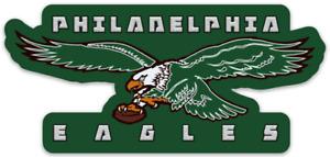 Philadelphia Eagles Logo Type w/ Eagle on Ball NFL Football Die-cut MAGNET