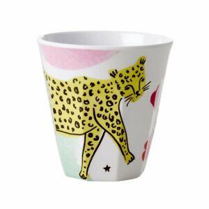 RICE DK Melamine Cup Medium Wild Leopard