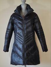 New Skea Chevy Women's Duck Down Long Black Puffer Jacket Size L $200