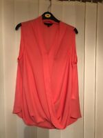 Pink/peach top size 16 New Look