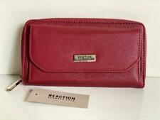 NEW! KENNETH COLE REACTION CANAL RED NICOLE ZIP-AROUND WALLET ORGANIZER $49 SALE