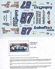 #89 Joe Nemechek LubePro's 2009 Chevy 1/24th - 1/25th Scale Waterslide Decals