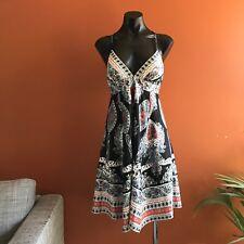 Dotti Spaghetti Strap Cami Dress Size 8 Formal Party Summer Print  V Neck