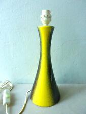 pied de lampe en céramique jaune et noire mouchetée, vintage des années 70