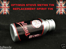 OPTIMUS STOVE SPIRIT METHS TIN BOTTLE PRIMUS STOVE METHYLATED SPIRIT TIN BOTTLE