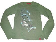 Edc by Esprit tolles Langarm Shirt Gr. 152 / 158 grün mit Druckmotiv !