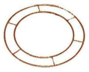 """8"""" Metal wire wreath ring for making foliage, fabric or bauble displays crafts"""