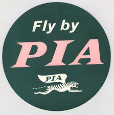 1950'S PIA ~ PAKISTAN INTERNATIONAL AIRLINES LUGGAGE LABEL