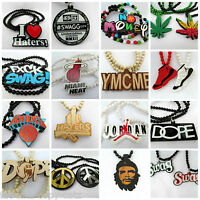 25+ DESIGNS URBAN ACRYLIC WOOD ROSARY BEADED HIPHOP GANGSTER FASHION NECKLACE UK