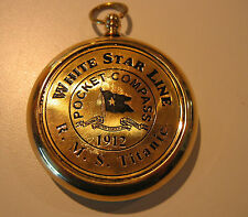 RMS TITANIC 1912 Brass POCKET COMPASS Beautiful Gleaming Working Model