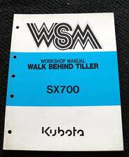 Original Kubota Sx700 700 Walk Behind Tiller Service Repair Manual Very Nice