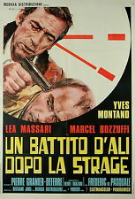 Yves Montand Pierre Granier-Deferre LE FILS manifesto 2F originale 1973 Corsica
