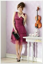 Fuchsia Pink Evening Dress Prom Party Dress Bridesmaid Dress UK Size 10