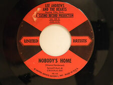 Lee Andrews+The Hearts 45 NOBODY'S HOME bw TRY IMPOSSIBLE   VG