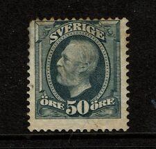 Sweden SC# 63 Mint Hinged / Hinge Pg Rem / Toned Gum - S1725