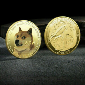 Dogecoin Commemorative Gold Plated Doge Coin Limited Edition Collectible