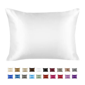 Luxury Satin Pillowcase for Hair and Skin - Satin Pillow case with Zipper
