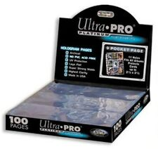 100 Page Box of Ultra Pro 9-Pocket Mini Card Pages