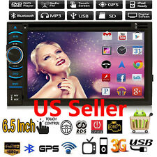 """Quad Core Android 4.4.4 HD WIFI 6.5"""" Double 2DIN Car Radio Stereo DVD Player GPS"""
