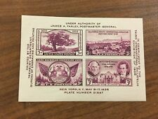 1936 Third International Philatelic Exposition  Souvenir Sheet. MNH, Scott #778
