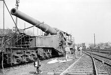 WW2 Photo WWII  Captured German Railway Gun Germany 1945 World War Two  / 4157