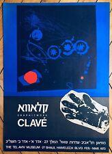 Clavé Antoni Affiche Lithographie art abstrait abstraction Paris Tel Aviv Clave
