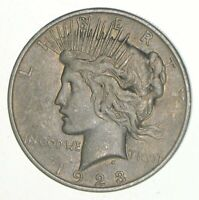 1923-D - Peace Silver Dollar - 90% US Coin Denver Minted VG-XF