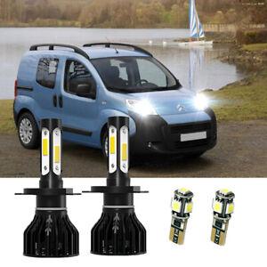 For Citroen Nemo H4 501 55w White Xenon HID High/Low/Side LED Headlight Bulb Set